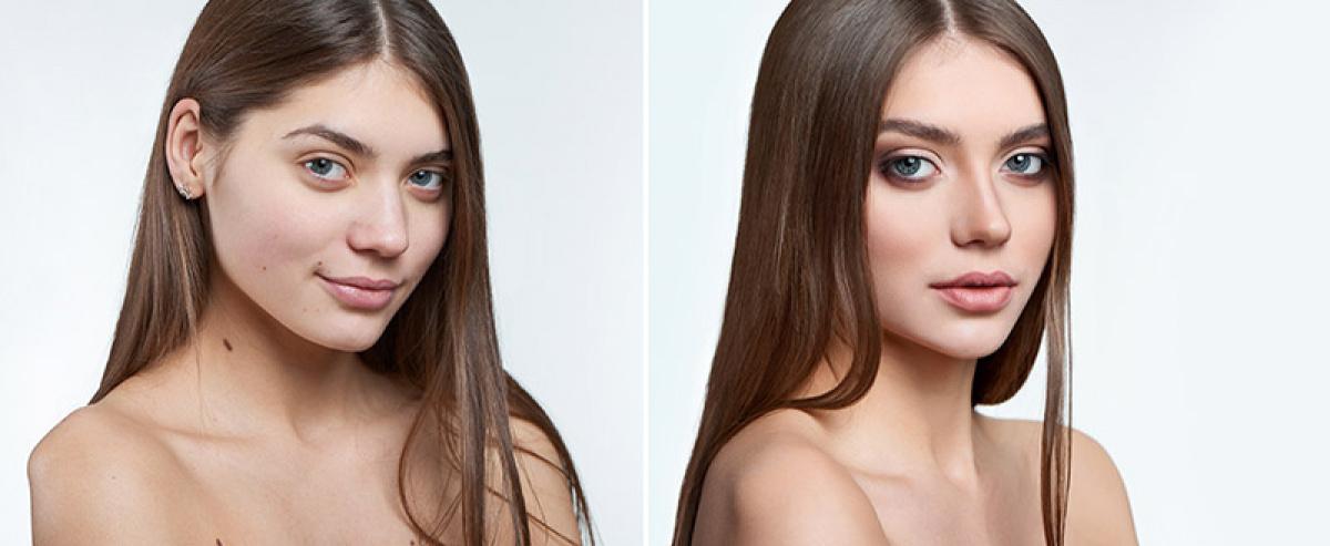 Srovnání makeup a bez